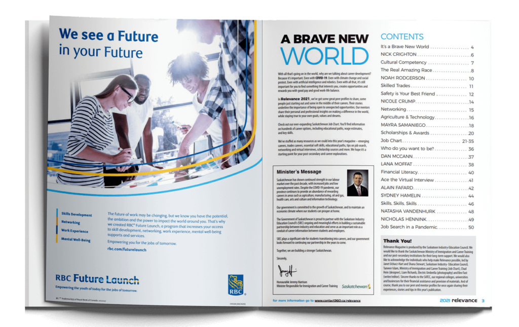 Relevance 2021 Magazine Pages 1 and 2
