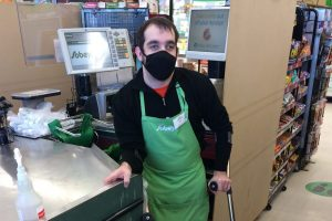 Matt at his job at sobeys